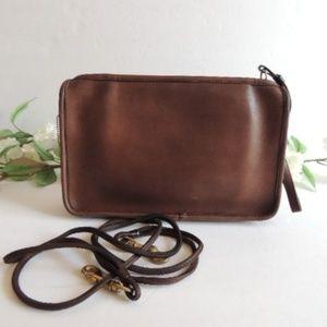 Vintage Coach Brown NYC ClutchShoulder Bag